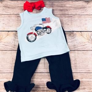 Baby Girl 6-12 month July 4th Outfit